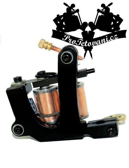 Cívkový tetovací strojek Cast Iron  a tetovací grip
