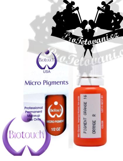 Barva pro permanentní make up BioTouch Orange