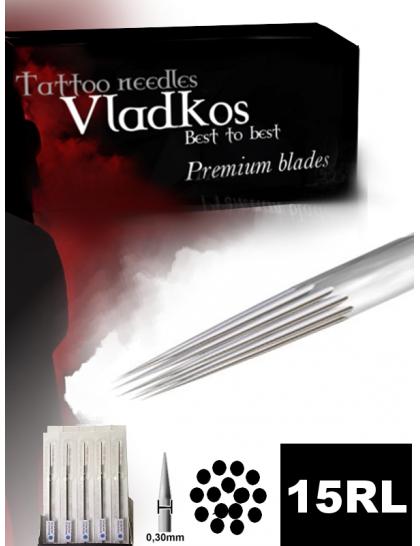 Profesionální tetovací jehla Vladkos 15RL