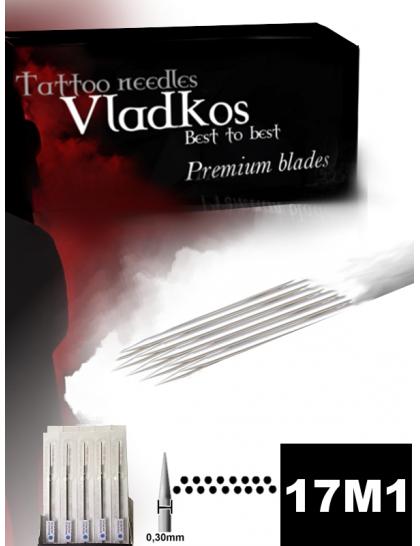 Profesionální tetovací jehla Vladkos 17M1