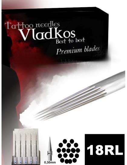 Profesionální tetovací jehla Vladkos 18RL