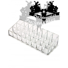 Acrylic organizer for tattoos and permanent make-up with 36 holes