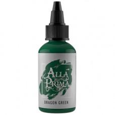 Alla prima Dragon green tattoo ink