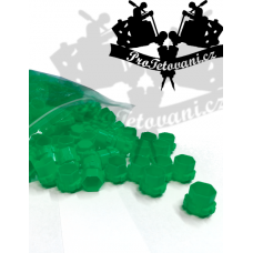 Package of connecting cups for tattoo ink MODUL 15 mm GREEN