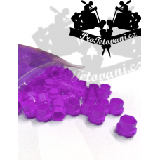 Package of connecting cups for tattoo ink MODUL 15 mm PURPLE