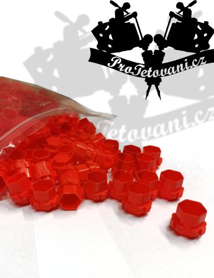 Balení spojovacích kalíšku na tetovací barvu MODUL 15 mm RED