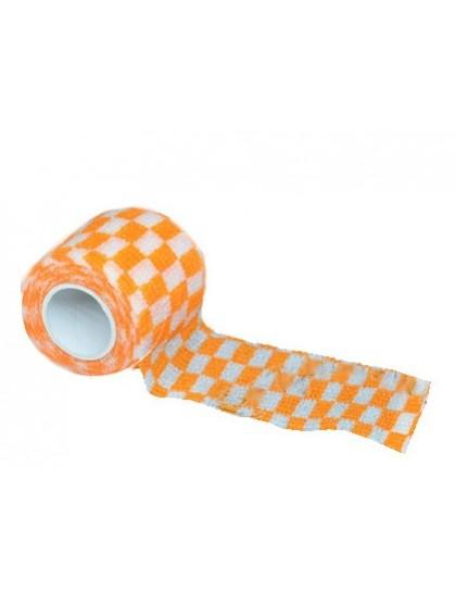 Bandáž na tetovací grip Čtvercová Oranžová