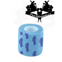 Bandage for tattoo grip Blue Cars