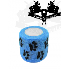 Bandage for tattoo grip Blue Paw
