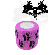 Bandage for tattoo grip Purple Paw
