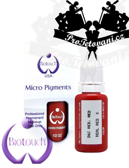 Barva pro permanentní make up BioTouch Real red 15 ml