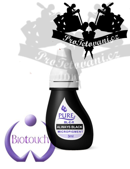 Barva pro permanentní make up BioTouch Always Black 3 ml