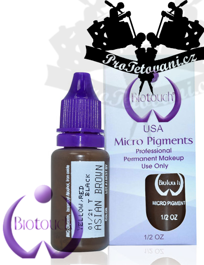 Barva pro microblading BioTouch Asian Brown 15 ml