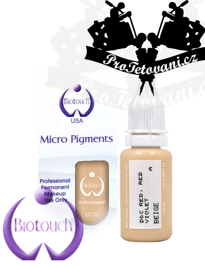 Barva pro permanentní make up BioTouch Beige 15 ml