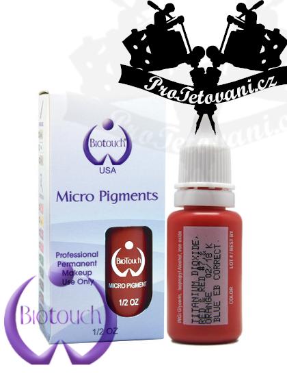 Barva pro permanentní make up BioTouch Blue Eyebrow Corrector 15 ml
