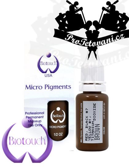 Barva pro permanentní make up BioTouch Brown 15 ml