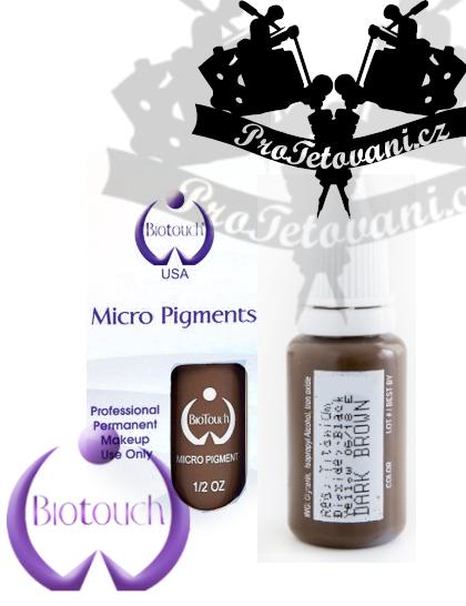 Barva pro permanentní make up BioTouch Dark Brown