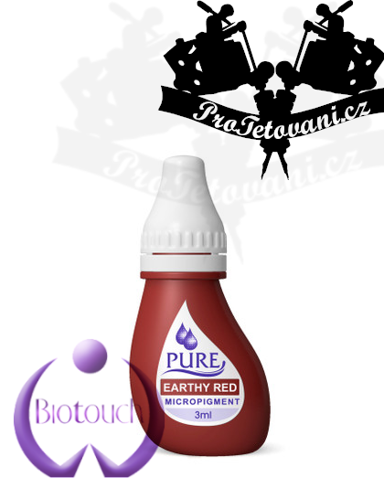 Barva pro permanentní make up BioTouch Earthy Red 3 ml