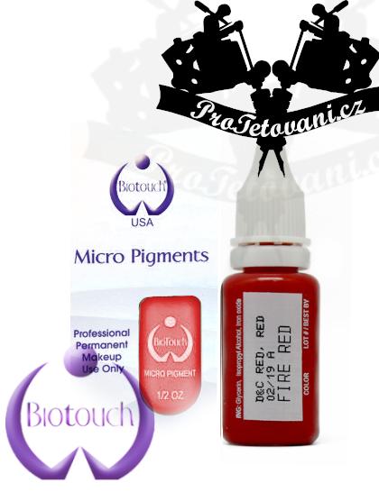 Barva pro permanentní make up Fire red 15 ml