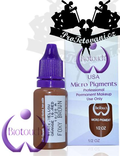 Barva pro microblading BioTouch Foxy Brown 15 ml