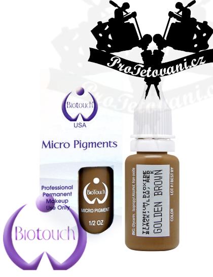 Barva pro permanentní make up BioTouch Golden Brown 15 ml