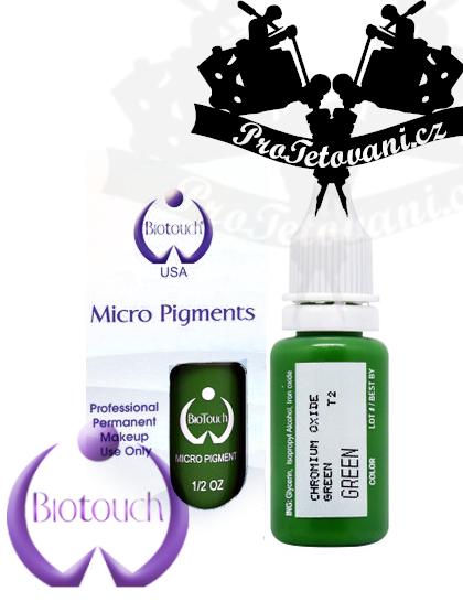 Barva pro permanentní make up BioTouch Green 15 ml