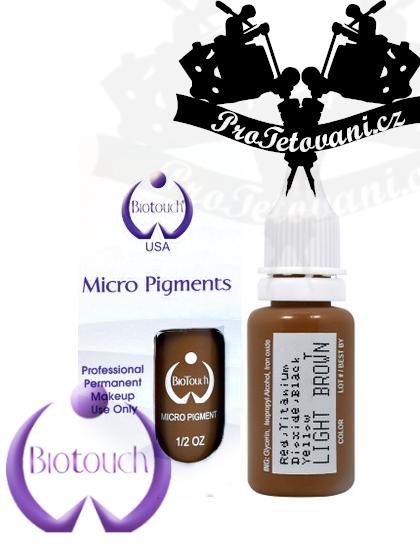 Barva pro permanentní make up BioTouch Light brown 15 ml