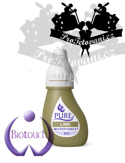 Barva pro permanentní make up BioTouch Lime 3 ml