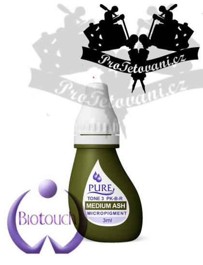 Barva pro permanentní make up BioTouch Medium Ash 3 ml