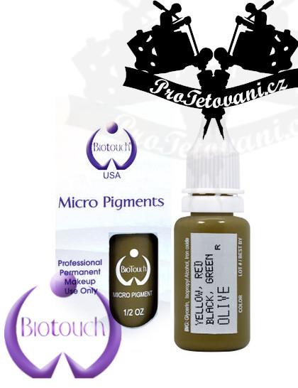 Barva pro permanentní make up BioTouch Olive 15 ml