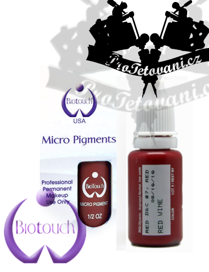 Barva pro permanentní make up BioTouch Red Wine