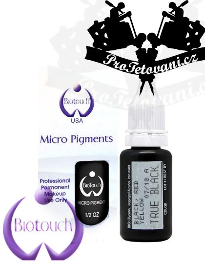 Barva pro permanentní make up BioTouch True Black 15 ml