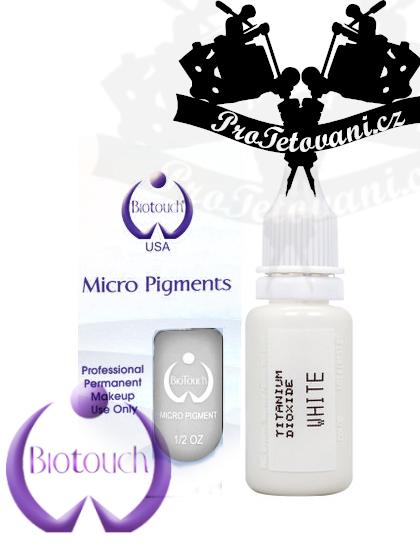Barva pro permanentní make up BioTouch White 15 ml