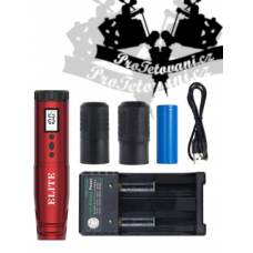 Wireless rotary tattoo machine ELITE FLY red battery