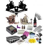 Velká tetovací sada s dvěma cívkovými strojky kufrem a Moms Millennium black Onyx