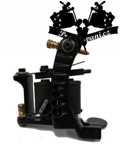 Cívkový tetovací strojek Single a tetovací grip