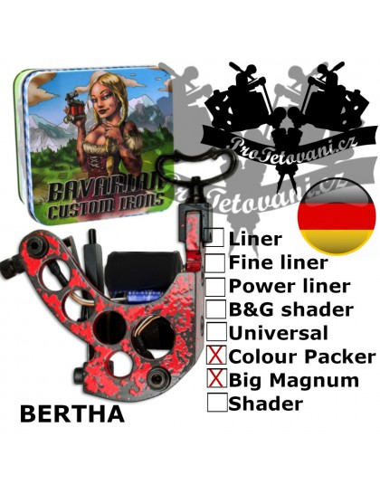 Profesionální cívkový strojek Bavarian Custom Irons Bertha Big Magnum