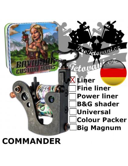 Profesionální cívkový strojek Bavarian Custom Irons Commander Liner