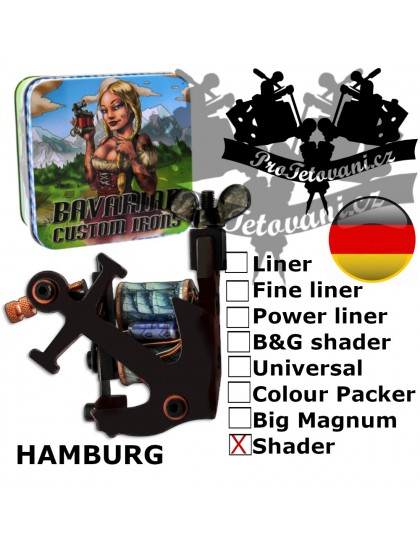 Profesionální cívkový strojek Bavarian Custom Irons Hamburg Shader
