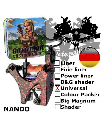 Profesionální cívkový strojek Bavarian Custom Irons Nando Universal