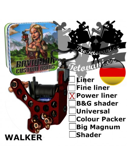 Profesionální cívkový strojek Bavarian Custom Irons Walker PowerLiner