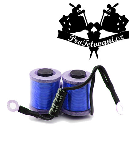 Cívky pro tetovací strojek  10 wraps blue