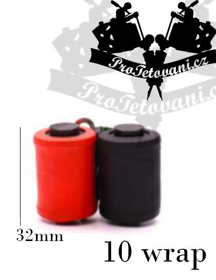 Cívky pro tetovací strojek  10 wraps red and black