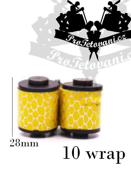 Cívky pro tetovací strojek  10 wraps yellow hive