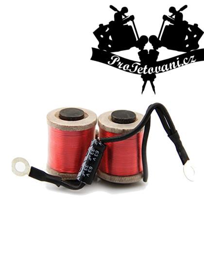 Cívky pro tetovací strojek  12 wraps red vhodné pro Liner
