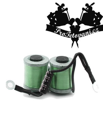Cívky pro tetovací strojek 12wrap Green