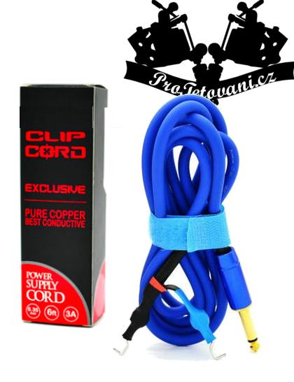 Prémiový Clip cord silikonový hrubý Blue