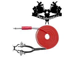 Clip cord for tattoo machines Royal Red