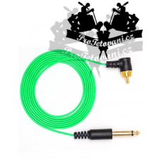 Extra thin RCA CORD for tattoo machines green