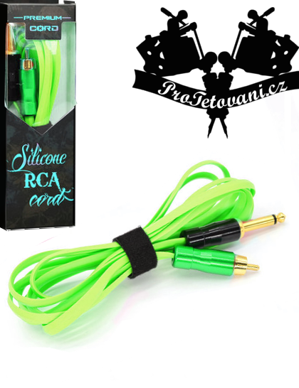 Prémiový tetovací RCA kabel snake green
